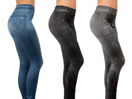 Slim Jeggings slim helanke, 3 para